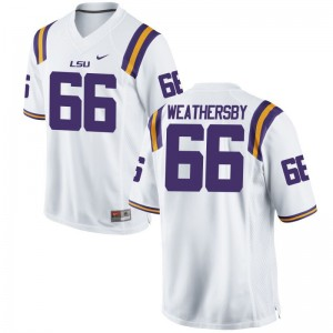 Louisiana State Tigers Limited Mens Toby Weathersby Jerseys Men Medium - White