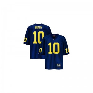 Blue Tom Brady Jerseys Large University of Michigan Limited For Kids