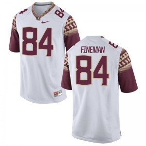 Limited White Tristan Fineman Jerseys XXL Men Florida State