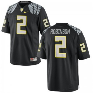Tyree Robinson Jersey X Large For Men Oregon Black Limited