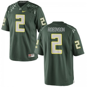 Tyree Robinson Youth(Kids) Jerseys Youth Small Limited Oregon - Green