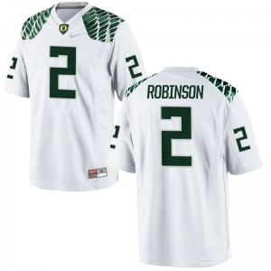 Tyree Robinson Youth(Kids) Jerseys Youth X Large Limited Oregon Ducks - White