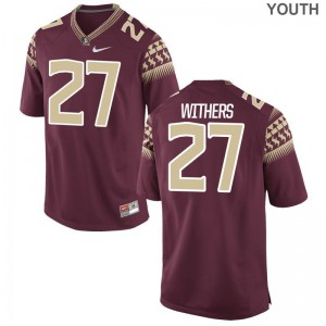 Florida State For Kids Limited Tyriq Withers Jersey Youth Large - Garnet