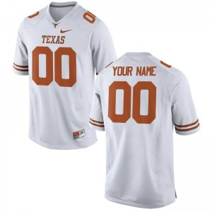 University of Texas Youth(Kids) Limited Custom Jerseys White