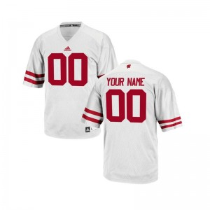 Wisconsin Badgers Limited Kids Custom Jersey Youth Medium - White