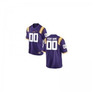 LSU Tigers Customized Jerseys X Large Limited Youth(Kids) Purple