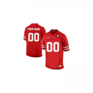 OSU Buckeyes Customized Jerseys Medium Limited Kids Red 2015 Patch