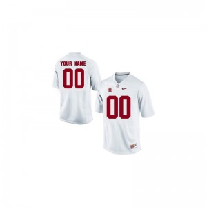 Youth Customized Jersey XL University of Alabama Limited - White