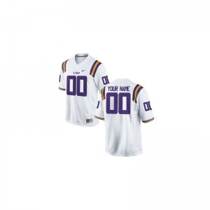 Limited For Kids LSU Customized Jersey Youth X Large - White