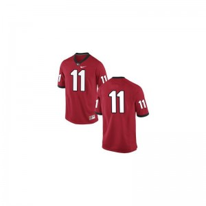 University of Georgia Greyson Lambert Jerseys Large #11 Red Limited For Kids