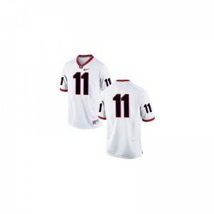 Georgia Youth(Kids) Limited #11 White Greyson Lambert Jerseys X Large