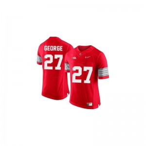 Limited Eddie George Jerseys S-XL Kids Ohio State - #27 Red Diamond Quest Patch