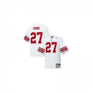OSU Eddie George Youth(Kids) Limited Alumni Jersey #27 White