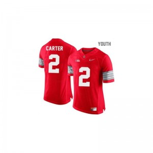 Ohio State Buckeyes Cris Carter Jerseys Small Youth(Kids) #2 Red Diamond Quest Patch Limited
