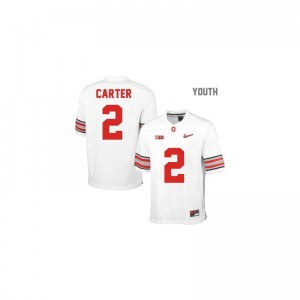 Cris Carter Ohio State Jerseys Youth Limited #2 White Diamond Quest Patch Embroidery