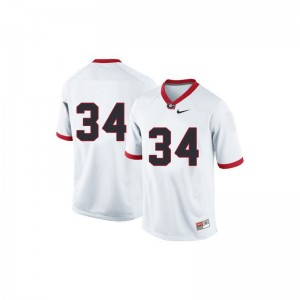 Georgia Bulldogs Limited Herschel Walker For Kids #34 White Jersey Youth Small