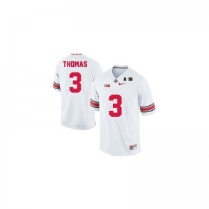 OSU Buckeyes For Kids #3 White Diamond Quest 2015 Patch Limited Michael Thomas Jersey Youth Medium