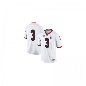 Georgia Limited Todd Gurley Youth #3 White Jersey Youth Large