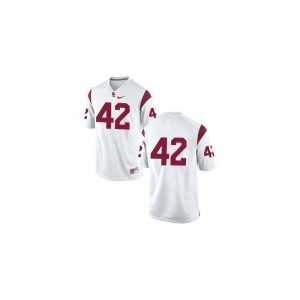 Youth(Kids) Limited USC Jersey Youth X Large of Ronnie Lott - #42 White