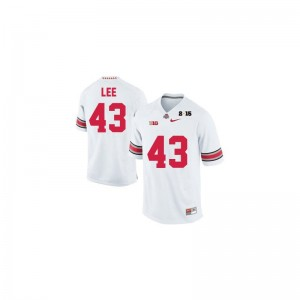 OSU Buckeyes Limited #43 White Diamond Quest 2015 Patch Youth Darron Lee Jersey Youth Small
