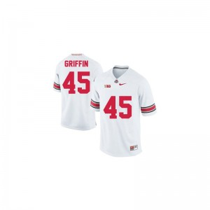 Youth(Kids) Archie Griffin Jerseys XL OSU Buckeyes #45 White Limited