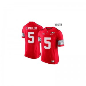 Braxton Miller Kids #5 Red Diamond Quest National Champions Patch Jersey Large Limited Ohio State Buckeyes