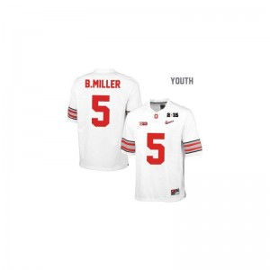 Youth XL Ohio State Braxton Miller Jersey Stitch Youth(Kids) Limited #5 White Diamond Quest National Champions Patch Jersey