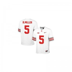 Braxton Miller Kids Jersey Youth Large Limited #5 White Diamond Quest Patch Ohio State Buckeyes