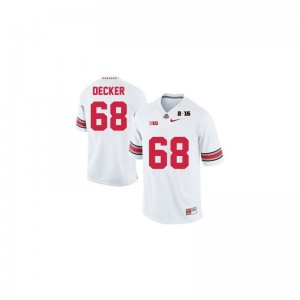 Taylor Decker Youth Jersey Youth X Large Ohio State Limited - #68 White Diamond Quest 2015 Patch