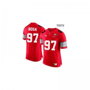 #97 Red Diamond Quest National Champions Patch Limited Joey Bosa Jersey Medium Kids Ohio State Buckeyes