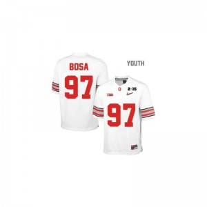 Limited Youth OSU Jersey Small of Joey Bosa - #97 White Diamond Quest National Champions Patch