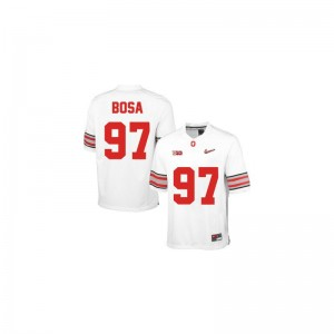 Joey Bosa Youth(Kids) #97 White Diamond Quest Patch Jersey XL Ohio State Limited