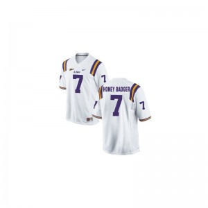 Louisiana State Tigers Kids (Honey Badger) White Limited Tyrann Mathieu Jersey XL